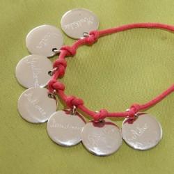 Bracelet médailles en argent à graver