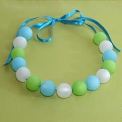 Collier Ein Gedi bleu, vert et blanc