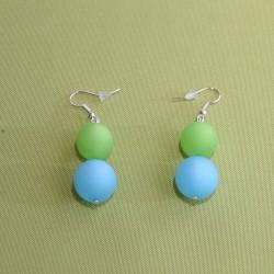 Boucles d'oreilles Ein Gedi bleues et vertes