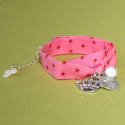 Bracelet Reine du Ciel rose vif