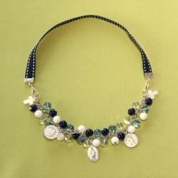 Collier-bracelet Stella Maris bleu