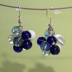 Boucles d'oreilles Stella Maris Bleues