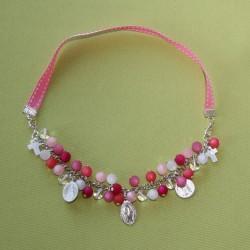 Collier-bracelet Stella Maris camaïeu de rose