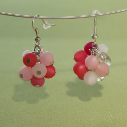 Boucles d'oreilles Stella Maris camaïeu de rose