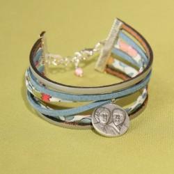 Bracelet manchette Betsy Porcelaine Saints Louis et Zélie martin