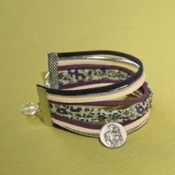 Bracelet Saint Joseph et liberty Fairfod violet