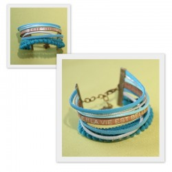 Bracelet manchette La vie est belle
