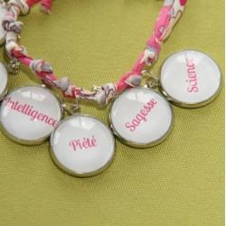 Bracelets 7 dons du Saint Esprit rose