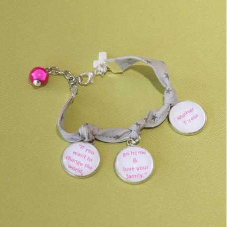"""Bracelet """"Si tu veux changer le monde"""""""