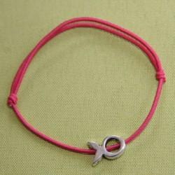 Bracelet Ichtus sur élastique coloré